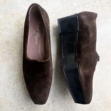 Robert Clergerie Women's Brown Suede Platforms Wedges Shoes Slip On 6.5