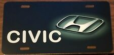 HONDA CUSTOM LICENSE PLATE CAR EMBLEM CIVIC Version