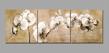 Oil Painting on Canvas Vintage Abstract Wall Decor Art NO frame Flower 3pc SL246