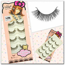5 Pairs False Eyelashes Nature Soft Cross Handmade Fake Eye Lashes  #36