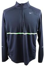 New Nike Sphere 1/2 Zip Athletic Running Shirt Mens Xl Black Polyester