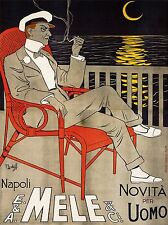 ADVERT MELE CLOTHING FASHION MEN NAPLES ITALY POSTER ART PRINT PICTURE BB1911A