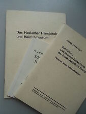 3 Schriften Entstehung .. Stadt Haslach Kinzigtal Dr. Heinrich Hansjakob Museum
