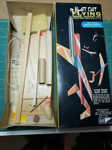 Vintage MPC Flat Cat Flying Model Rocket kit R-216 inventoried and complete