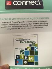 Connect 1-Semester Access Card Essentials of Contemporary Management 7th Editio