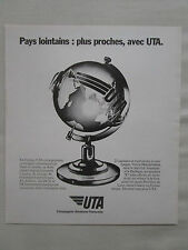 5/1983 PUB COMPAGNIE AERIENNE UTA TRANSPORT AERIEN AFRIQUE DC8 DC10 FRENCH AD