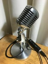 Vintage Shure 55SW mic w. stand and Shure X2u USB adaptor