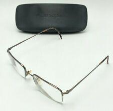 Flexon by Marchon 606 eyeglass frames, 54-19-140 eyeglasses, Coffee color, brown