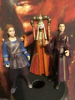 Hasbro Star Wars Episode I Action Figure 1998 Lot of 3 Queen Amidala