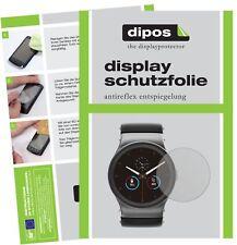 6x Uhr 45 mm Durchmesser Schutzfolie matt Displayschutzfolie Folie Display