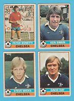 FOOTBALL - TOPPS  GUM  -  4  DIFFERENT  FOOTBALLERS  -  CHELSEA  -  1977