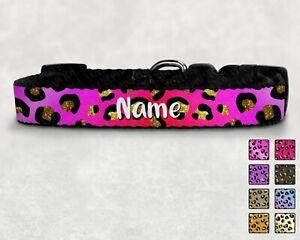 Leopard Print Personalised Printed Pet Collar