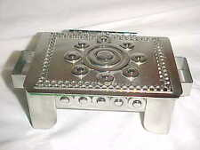 SIGNED STANLEY SZWARC MODERN STAINLESS STEEL BOX ABSTRACT SCULPTURE OUTSIDER ART