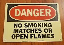 Large Danger Sign – No Smoking Matches Or Open Flames – Safety Sign #20118Fl