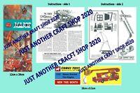 Corgi Toys 1127 Fire Engine Bedford Snorkel Instruction Leaflet & Poster Sign