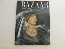 October 1954 HARPER'S BAZAAR Magazine Fashion Classic Ads