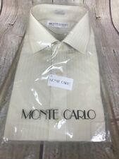 MONTE CARLO MENS DRESS SHIRT TAPERED LONG SLEEVE NEW SIZE 15.5