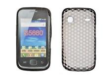Housse Etui Coque Silicone Gel Noir Diamand ~ Samsung GT S5660 Galaxy Gio