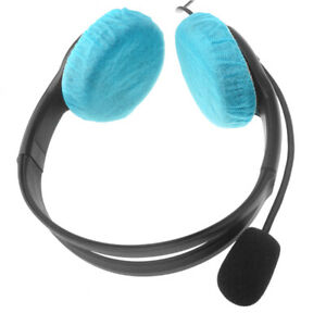 40x Disposable Sanitary Headphone Covers Earpiece Cover f/ Earmuff-style Headset