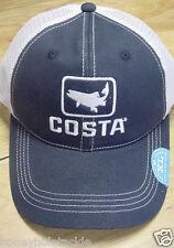 BRAND NEW COSTA DEL MAR TROUT MESH ADJUSTABLE CAP HAT  NAVY STONE