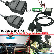 Dual USB Hard Wire Kit Car Truck Dash Camera Mobile Phone Adapter Charger Box