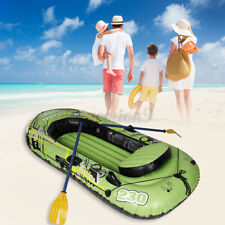 Security 3/5 Person PVC Inflatable Dinghy Boat Canoe Kayak Raft Fishing Rowing