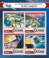 Guinea Military Stamps 2016 MNH WW2 WWII Pearl Harbor Ships Aviation 4v M/S