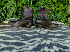Vintage Globus Brown Leather ankle boots UK 6 EU 39
