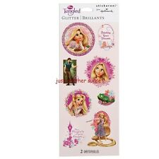 Disney Tangled Rapunzel Princess Glitter Stickers Acid Free 2 Sheets Per Package