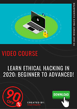Learn Ethical Hacking in 2020: Beginner to Advanced! video traaining tutorial