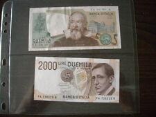Due banconote da 2 MILA LIRE - 2000 lire