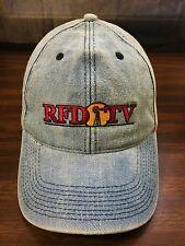 Vintage Blue Denim RDF TV Strapback Hat Rural Country Barn Farmer Trucker Cap