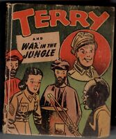 1946 Terry and War in the Jungle Big Little Book #1420 Milton Caniff Art VG
