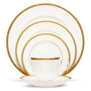 Noritake China Rochelle Gold 20Pc China Set, Service for 4