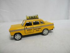 1:32 Model World New York Taxi Diecast Toy Vehicle w/ Pull Back Lights & Sound