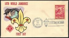 PHILIPPINES 1959 SCOUTS FDC Sc. B10