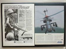 6/1985 PUB SACO DEFENSE NAPCO MITRAILLEUSE MACHINEGUN M60 7.62 MM GI AGUSTA AD