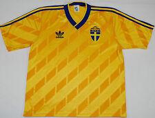 1988-1990 Sweden Adidas Home Football Shirt (Size Xl)
