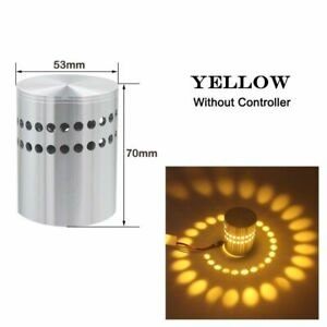 ColorfulAluminum LED Spiral Wall Sconce Luminous Lighting For Bedside Bedroom