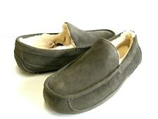 UGG ASCOT MEN SLIPPER SUEDE CHARCOAL WIDE US 13 3E /UK 12 /EU 46