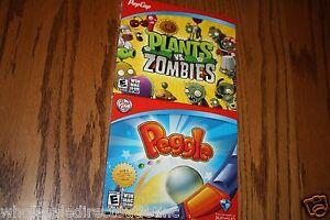 Pop Cap Plants Vs. Zombies & Peggle Combo Pack Win Mac CD-Rom Software  New
