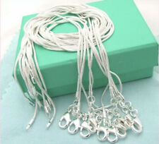 925 Sterling Silver Snake Chain Necklace 1mm 16