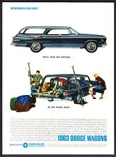 """1963 Dodge 880 Station Wagon photo """"The Space Race Winner"""" vintage print ad"""