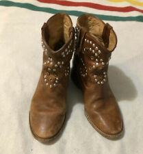 Isabel Marant Caleen Studded Ankle Hidden Wedge Boots Women's Size 37 US7