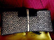 VBH clutch Purse Gold And Blk Glitter Net Overlay Ostrich Flap First Editon