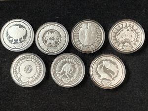 7 Piece Lot 2000 Sidney Australia Olympics Proof Commemoratives 1.0161 oz each