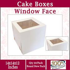 Cake Boxes Window Face 14x14x12 Inches High 50PK  Wedding Cake Box Cake Boxes