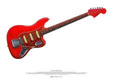 Jet Harris' Fender Vl Bass ART POSTER A2 size