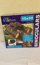 Globatek 10 X 50 Low Light Ruby Lens Rubberised Binoculars+Bag Strap Cloth Cover