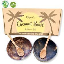Organic Coconut Bowls & Spoons Set (2 Bowls + 2 Spoons)